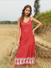 Load image into Gallery viewer, Women's Boho Dress Floral Printed Spaghetti Strap Beach Dress Maxi Dress