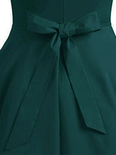 Load image into Gallery viewer, 1950S Green V Neck Sleeveless Vintage Dress