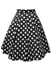 Load image into Gallery viewer, 1950S Polka Dots High Wasit Pleated Swing Skirt