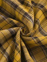 Load image into Gallery viewer, 1950S Yellow Plaid  Vintage Dress With Belt