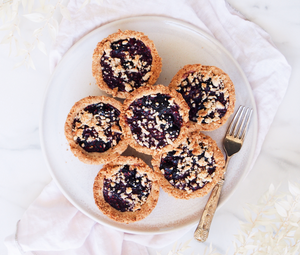 Spiced Berry Crumble Tarts