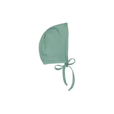 Deep Sage Ribbed Bonnet