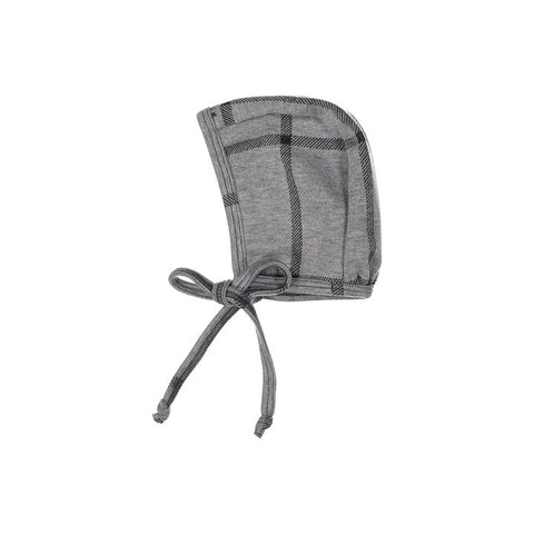 Gray Plaid Posh Winter Weave Bonnet X Eishes Style Collection