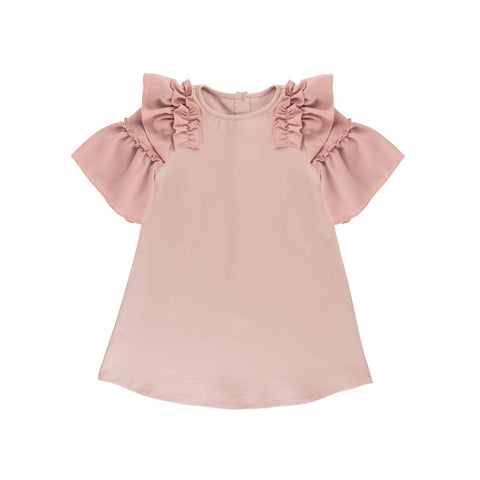 Rose + Mauve Ruffle Shift Dress - By Posh