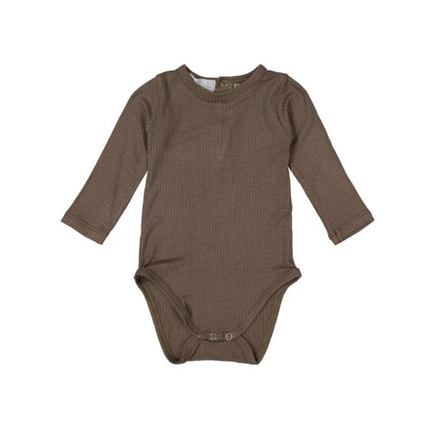 Mocha Gray Silky Soft Ribbed Onesie