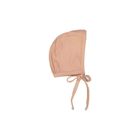 Blush Ribbed Bonnet