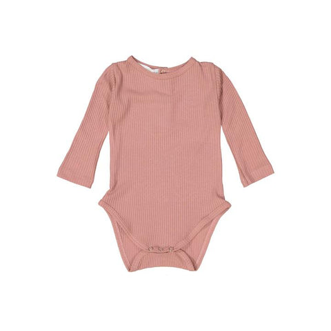 Rose Silky Soft Ribbed Onesie