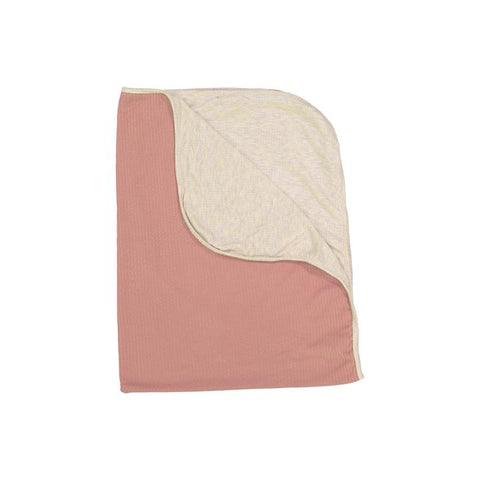 Rose + Heather Oatmeal Silky Soft Ribbed Swaddle Blanket