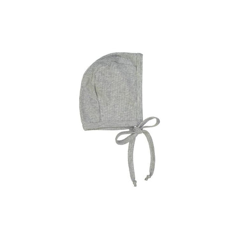 Heather Gray Ribbed Bonnet
