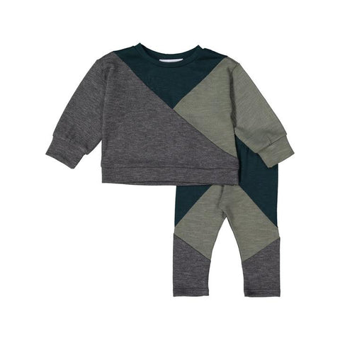 Pine + Moss Geometric Sweater Set