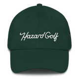 Cursive Hazard Dad hat