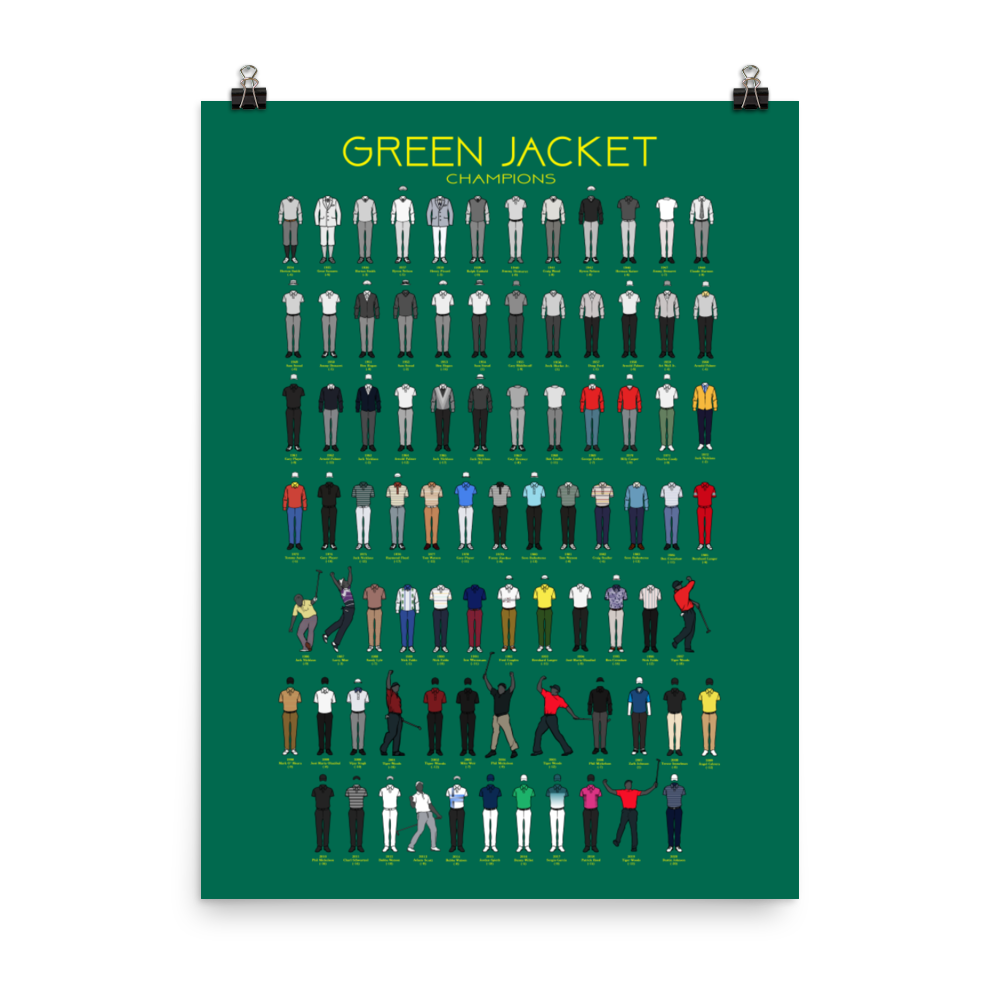 Green Jacket Champions Poster