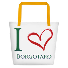 I Love Borgotaro Beach Bag