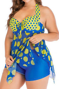 Round Dot Large Size Sexy Swimsuit