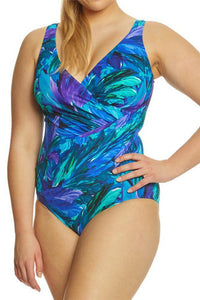European And American New Large Size Printing Ladies One-Piece Swimsuit