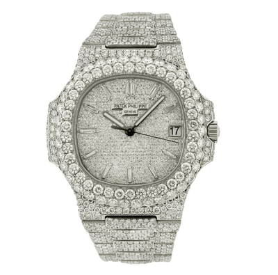 PATEK PHILIPPE NAUTILUS 5711/1A 40MM WITH 21.50CT DIAMONDS - Drip Depot Jewelers