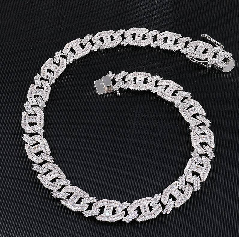 15MM Heavy Miami Baguette Cuban Link Chain - Drip Depot Jewelers