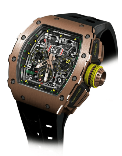 Richard Mille Rose Gold Flyback Chronograph Watch RM11-03 - Drip Depot Jewelers