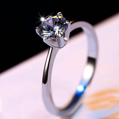 Luxury Diamond Ring Real 925 Silver Engagement Ring - Drip Depot Jewelers