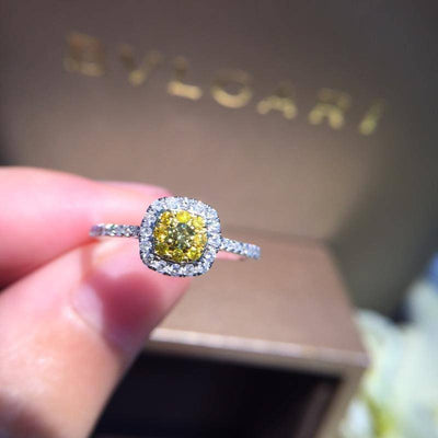 Natural Fancy Yellow Diamond 18K Gold Pure Gold Ring - Drip Depot Jewelers