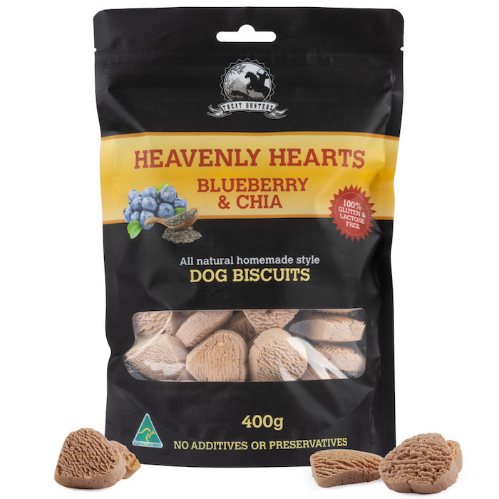 Blueberry and Chia - 400g - Heart Shaped - Dog Biscuit