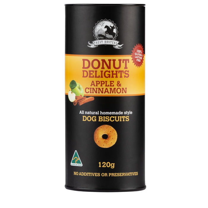Apple and Cinnamon Donut Shaped Dog Biscuit - 120g