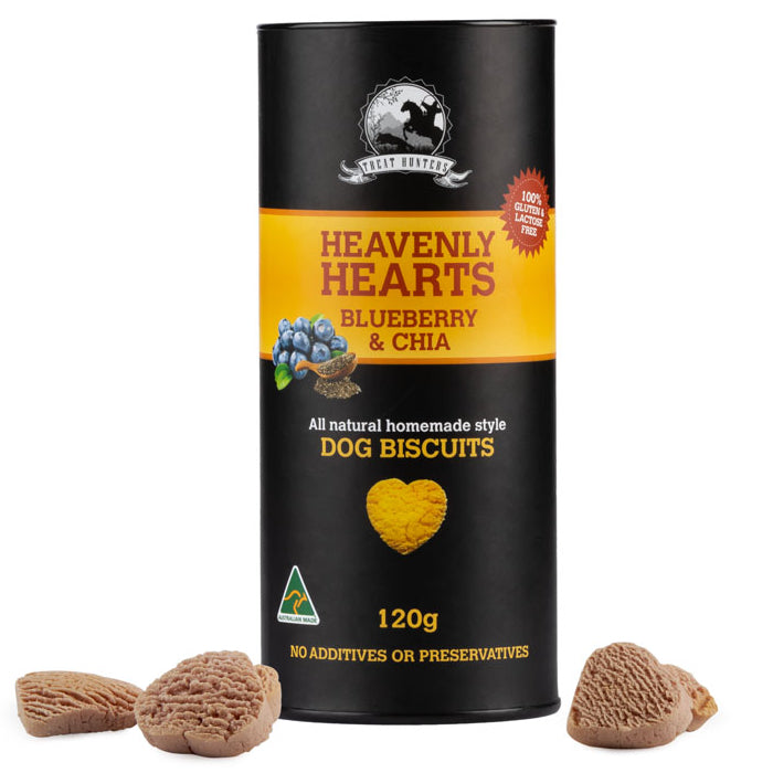 Blueberry and Chia - 120g - Heart Shaped - Dog Biscuit