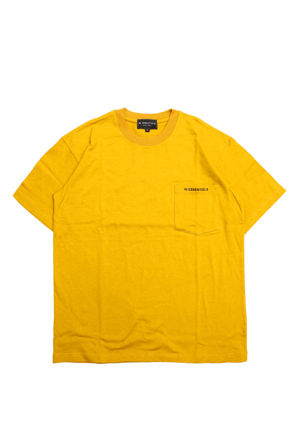 W.ESSENTIELS Boxy Cut Pocket Tee Mustard