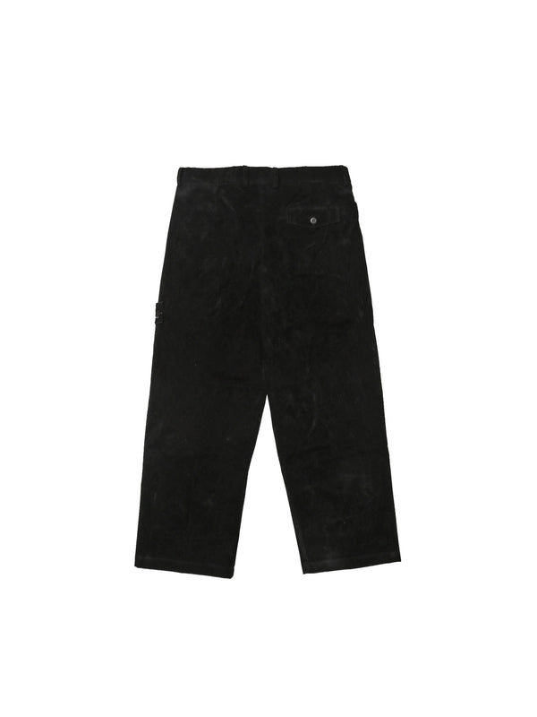 Courbet Painter Straight Pants Suede Noir Black