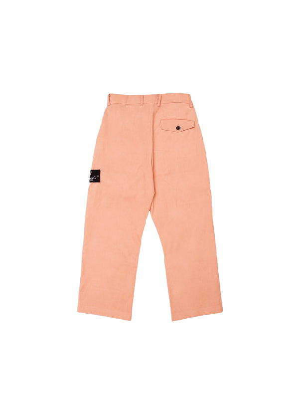 Courbet Painter Straight Suede Pants Peach