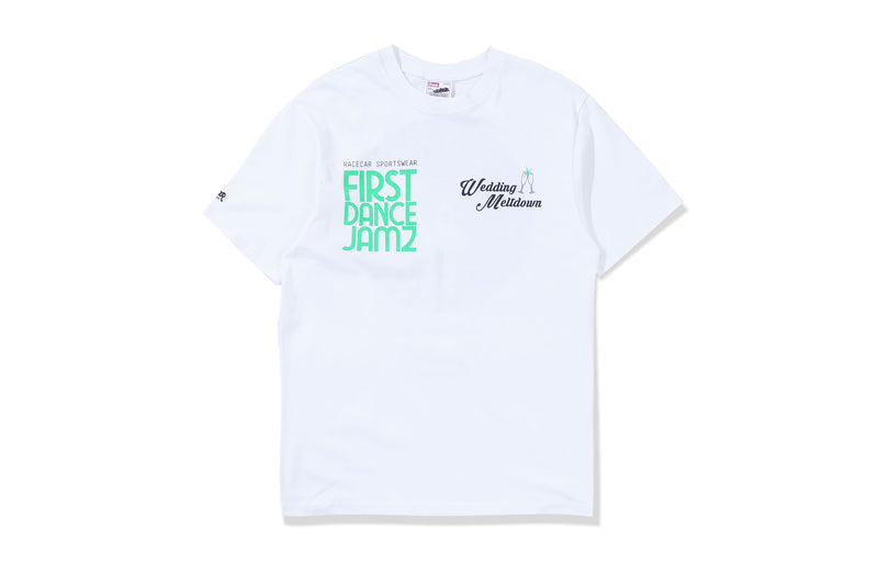 Racecar Wedding Meltdown White Tee