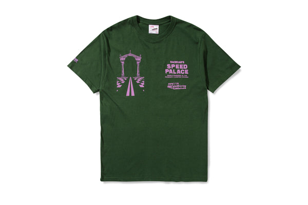 Racecar Speed Palace Green Tee