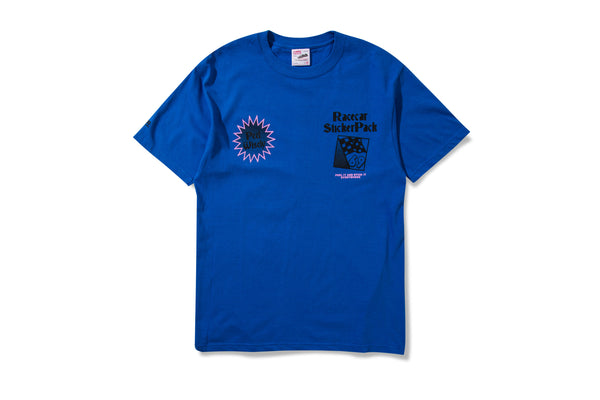 Racecar Sticker Pack Tee Blue