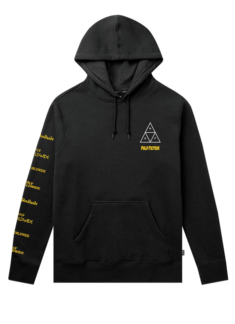 HUF X Pulp Fiction Mia Triple Triangle TT Pullover Hoodie Black