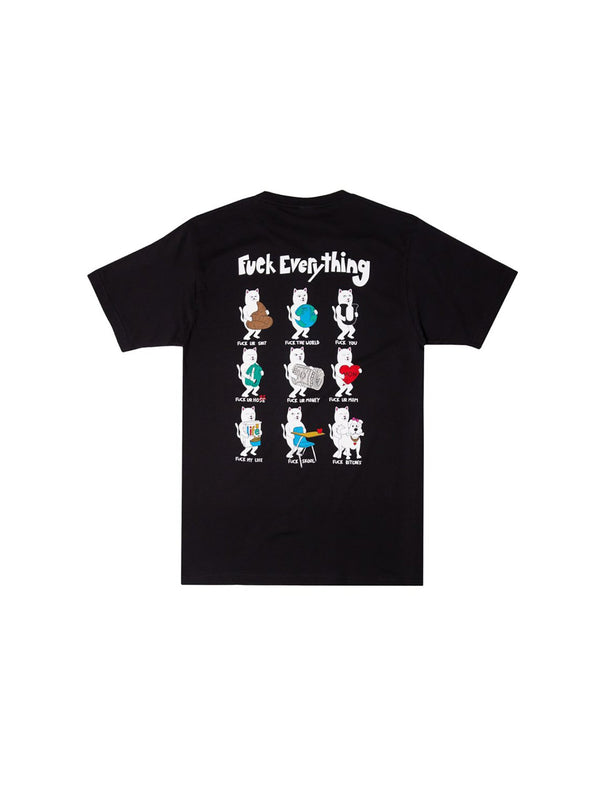 Fuck Everything Tee Black