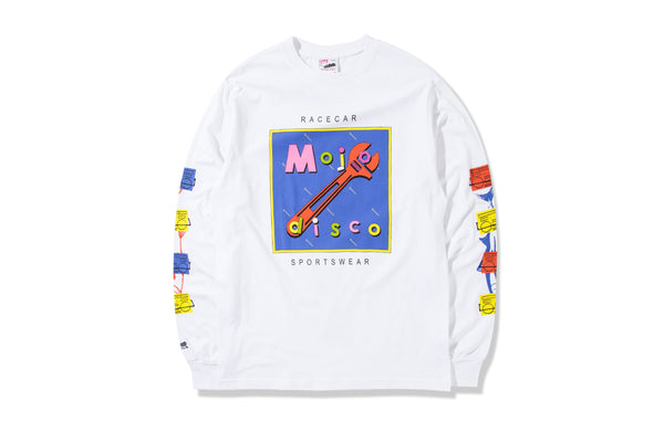 Mojo Disco T-shirt White L/S