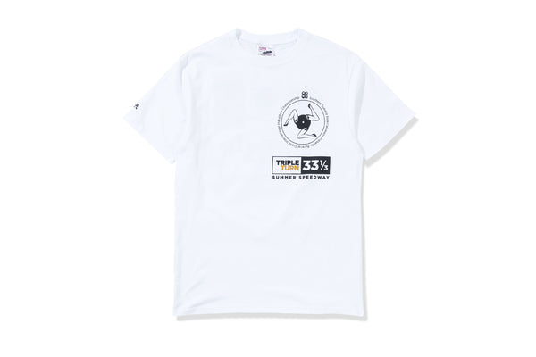 Racecar Triple Turn White Tee