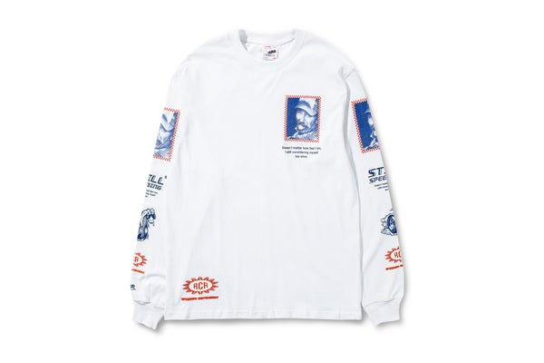 Racecar Ain't Slowing Down LS White Tee
