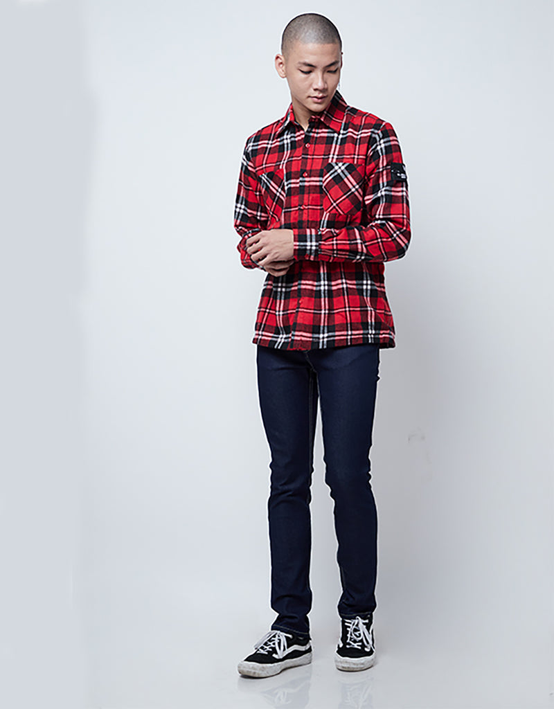 Riste Flanel Jacket Red