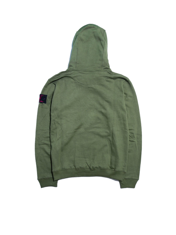 REGIMENT TYPE 002 ROUYER OVERSIZE HOODIE 375 GSM ECUMEISTER® MILITARY GREEN