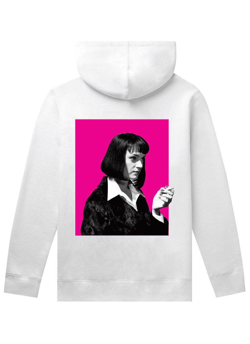 HUF X Pulp Fiction Mia Pullover Hoodie White