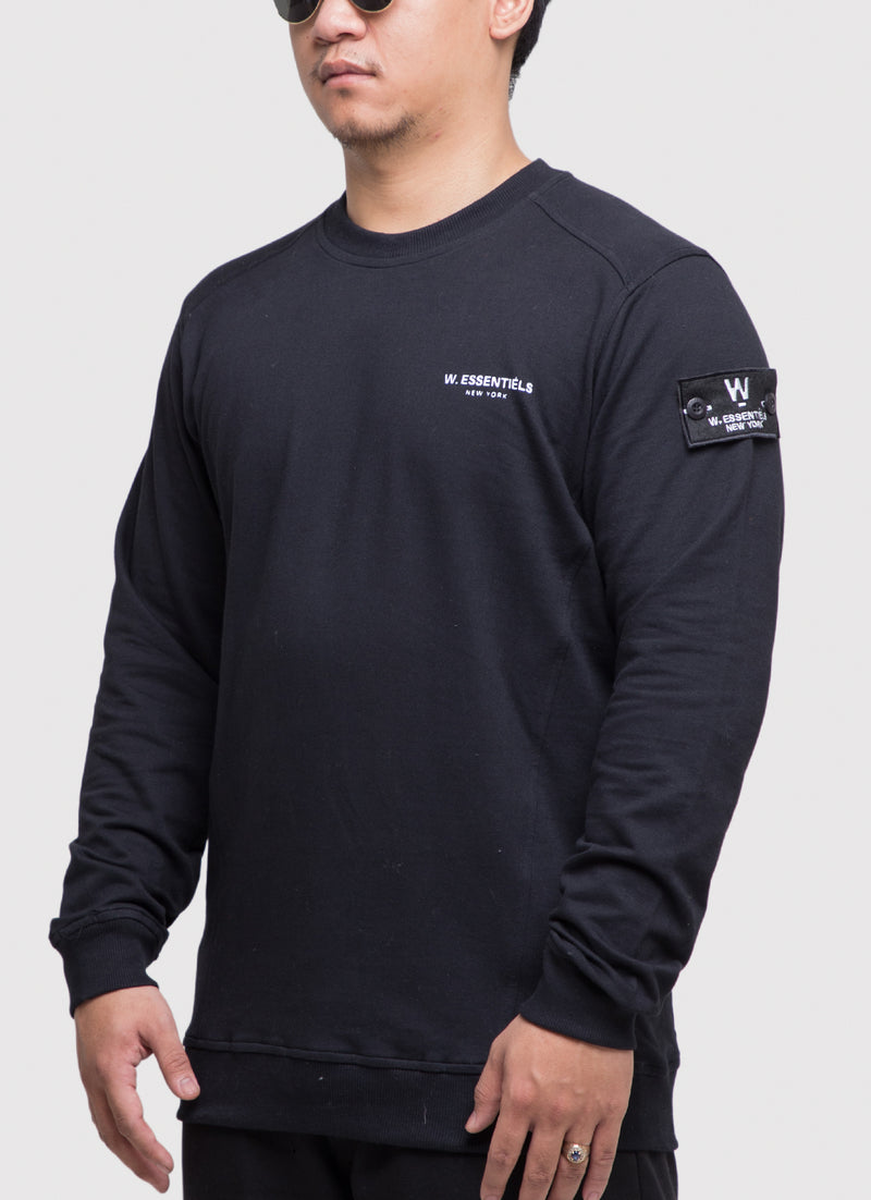 Pouile Chest Logo Crewneck Noir Black