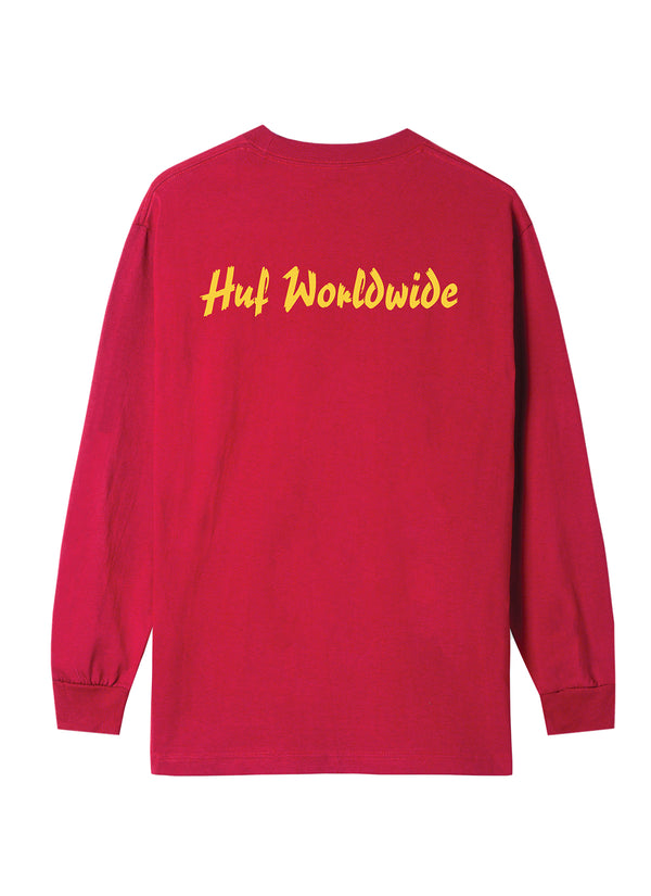 HUF X Pulp Fiction Props Long Sleeve L/S Tee Red