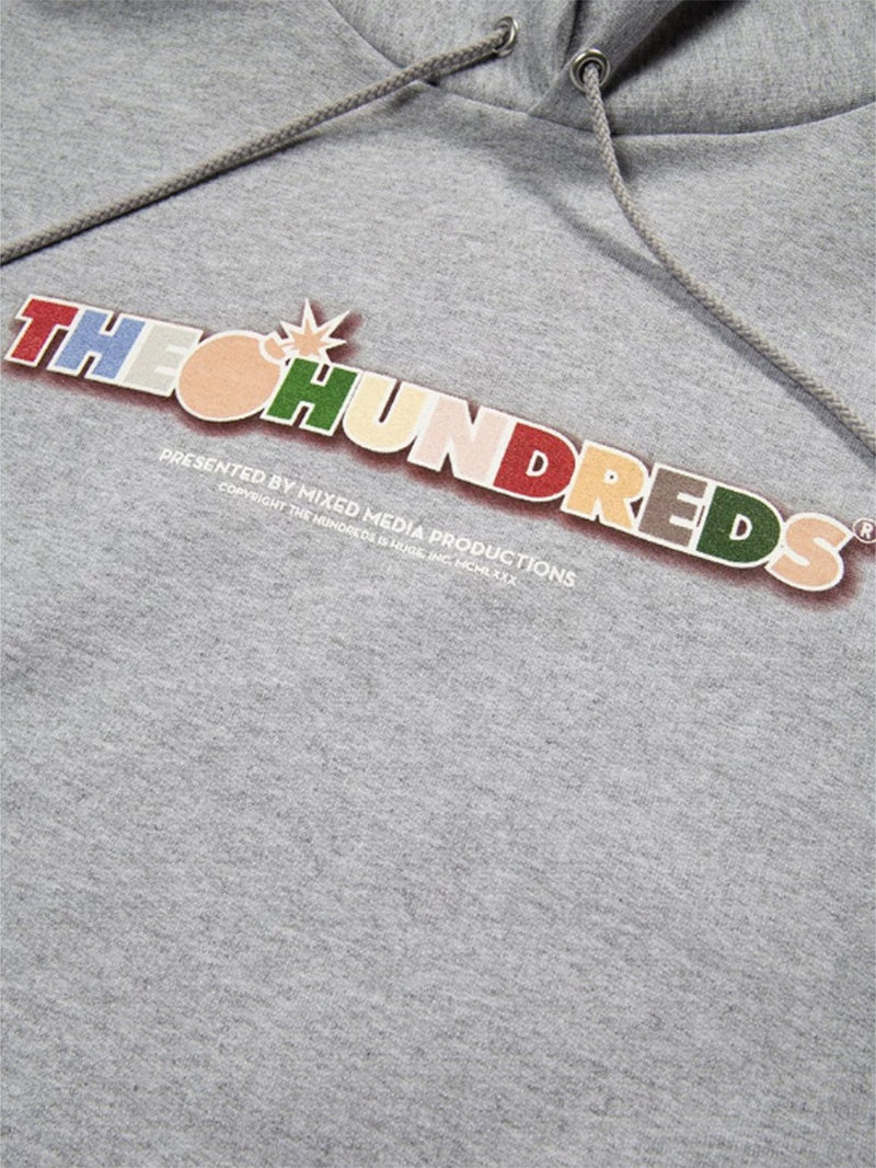 The Hundreds x CHAMPION Toon Bar Pullover Hoodie Oxford Grey