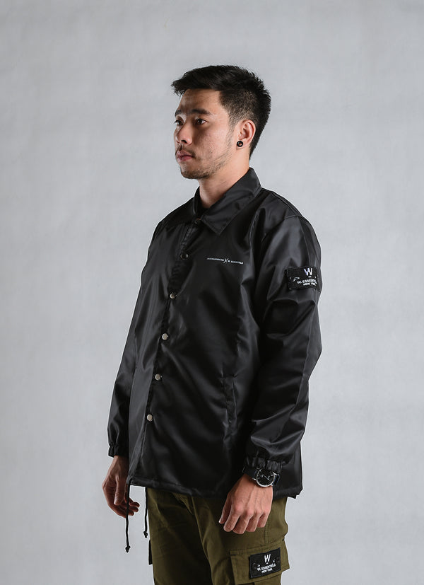 W.ESSENTIELS x Jackhammer Granata Windbreaker Noir Black