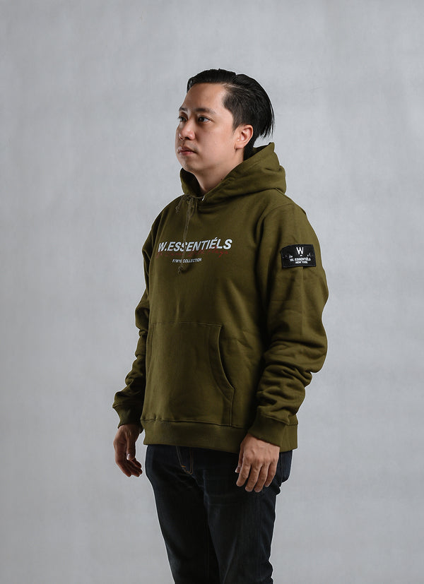 Came With Flag Oversize Hoodie Olive Green JSD Online Exclusive