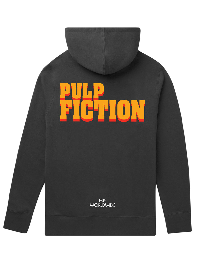 HUF X Pulp Fiction Burger Pullover Hoodie Black
