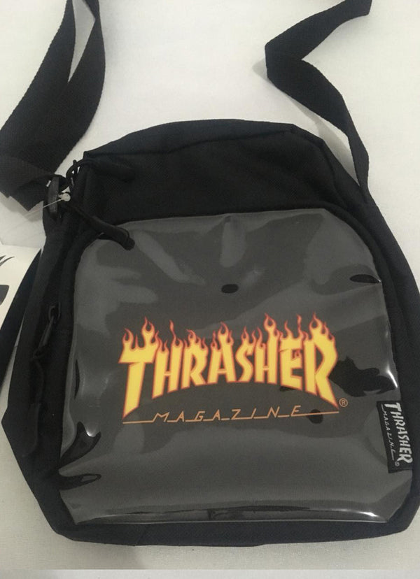 Thrasher Flame Logo Slingbag w/clear pocket