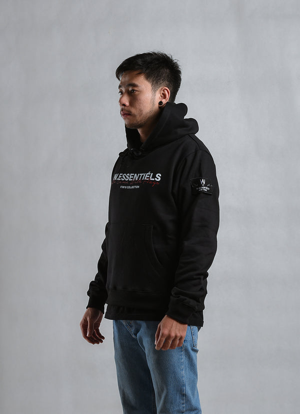 Came With Flag Oversize Hoodie Noir Black JSD Online Exclusive