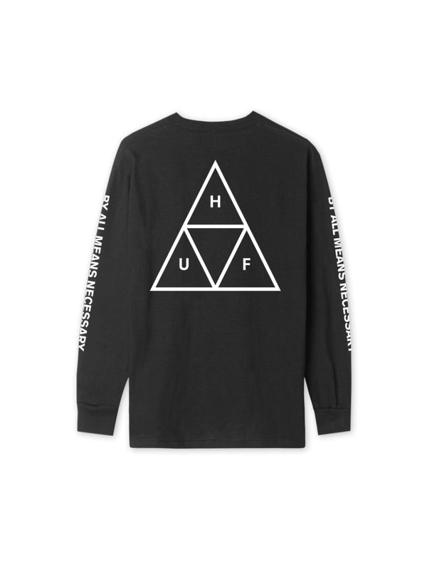 TRIPLE TRIANGLE LONG SLEEVE TEE BLACK